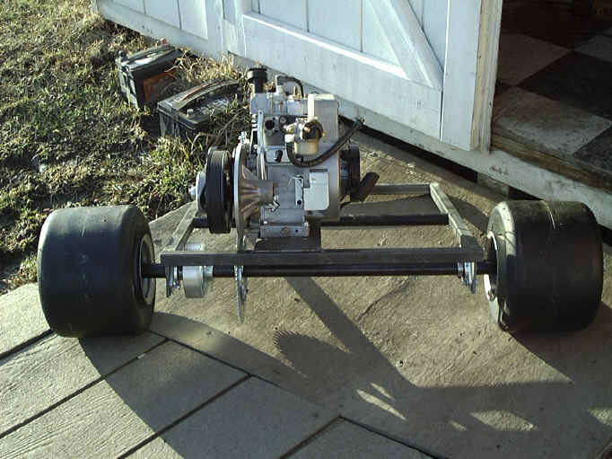 Go Kart Front Axle Assembly : Here is the first of little go kart builds